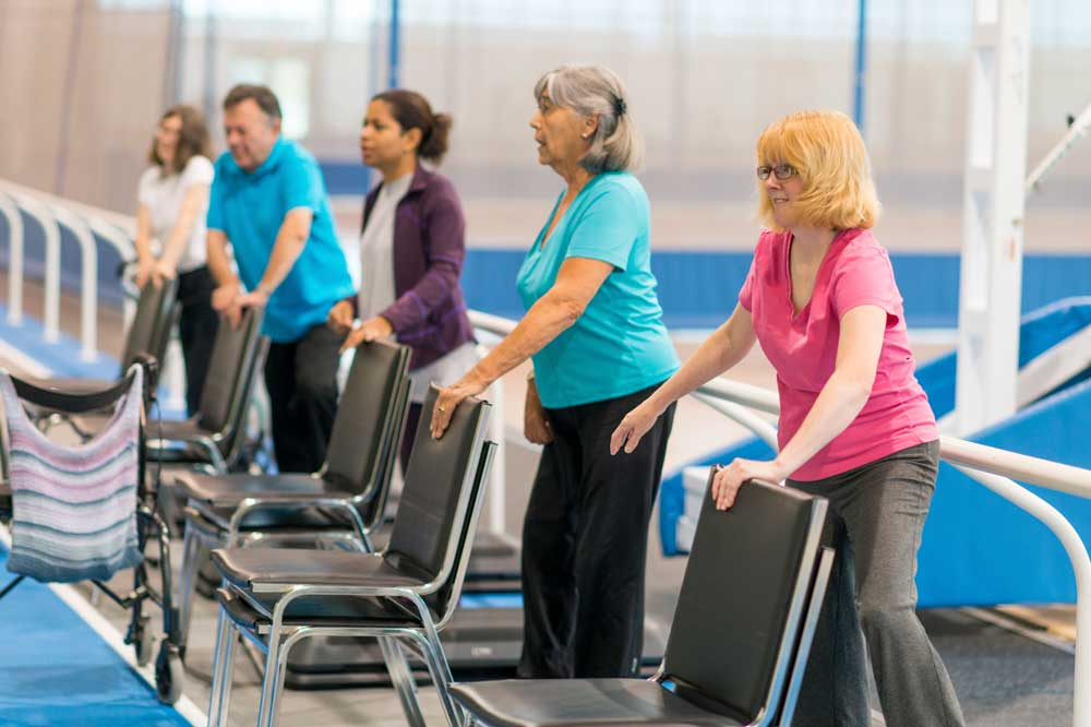 Older People doing Chair Exercises
